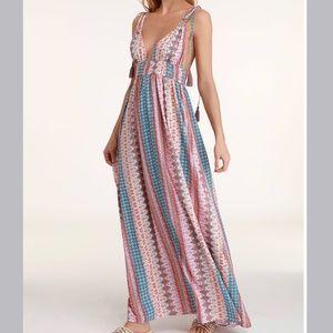 Lulus Maxin Relaxin Multi Print Maxi Dress